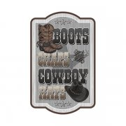 Boots Chaps and Cowboy Hats Country Western Sticker Decal