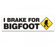 "I Brake for Bigfoot 9""x2.5"" Bumper Sticker Decal"