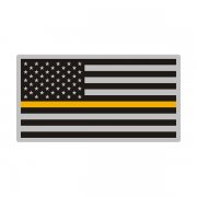 Thin Gold Line American Subdued Flag USA Decal Sticker (RH) V3