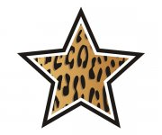 Star Leopard Animal Skin Print Sticker Decal