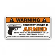 Owner Armed Deadly Force 2nd Amendment Home Security Sticker Decal