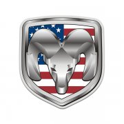 Dodge Ram American Flag USA Sticker Decal