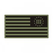 3 Percent Green Black OD Subdued Flag Percenter Decal Sticker (LH) V3