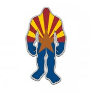 Arizona State Flag Bigfoot Decal AZ Sasquatch Big Foot Sticker