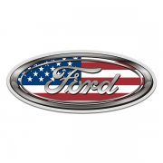 Ford American Flag Oval USA Sticker Decal