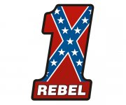 Rebel Confederate Flag Number One #1 Sticker Decal