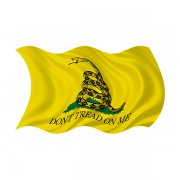 Gadsden Don't Tread on Me Waving Flag Sticker Decal