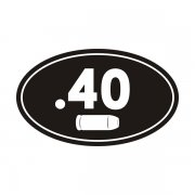.40 Cal Ammo Can Sticker Decal