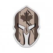 Canada Desert Tan Flag Spartan Helmet Military Armed Forces Sticker Decal V3