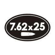 7.62 x 25 Ammo Can Sticker Decal