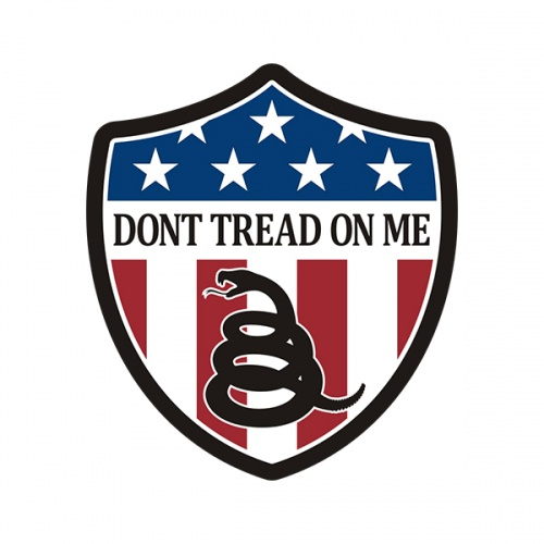 Dont Tread on Me American Shield Sticker Decal