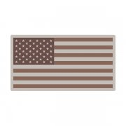 American Desert Tan Subdued Flag US Military USA Decal Sticker (RH) V3