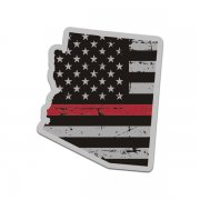 Arizona State Thin Red Line Decal AZ Tattered American Flag Sticker