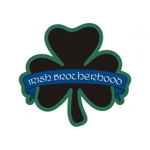 Irish Brotherhood Thin Blue Line Shamrock Officer Sticker Decal