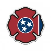 Tennessee State Flag Firefighter Decal TN Fire Rescue Maltese Cross Sticker