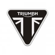 Triumph Motorcycles Subdued Black Gray Triangle UK British Flag Sticker Decal V4