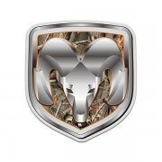 Dodge Ram Camo Logo Hunting Camouflage Sticker Decal