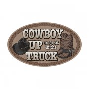 Cowboy Up Decal Rodeo Country Western Vinyl Car Truck Sticker