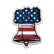 Liberty Bell American Flag Sticker Decal