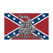 Rebel Confederate Flag Don't Tread on Me Sticker Decal