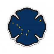 Alaska State Flag Firefighter Decal AK Fire Rescue Maltese Cross Sticker