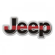 Jeep Thin Red Line Wrangler Rubicon Sticker Decal