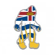 British Columbia Flag Bigfoot Decal BC Sasquatch Big Foot Sticker V2