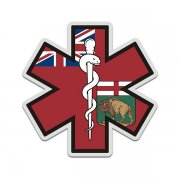 Manitoba Flag Star of Life MB EMT Paramedic EMS Sticker Decal