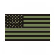 American Olive Green/Black Subdued Flag Decal OD Vinyl Sticker (RH)