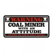 Coal Miner Warning Decal Mining Vinyl Hard Hat Window Bumper Sticker