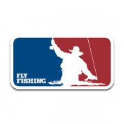 Fly Fishing Logo Fisherman Rod Reel Trout Salmon Bass Sticker Decal