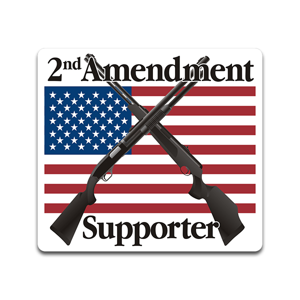 Second Amenment Flag Camouflage Gun Decal Sticker