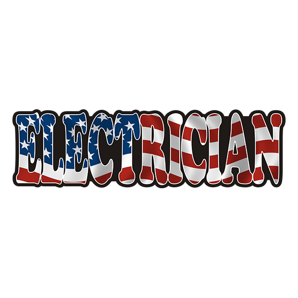 American Electrician Sticker Decal - Click image to close