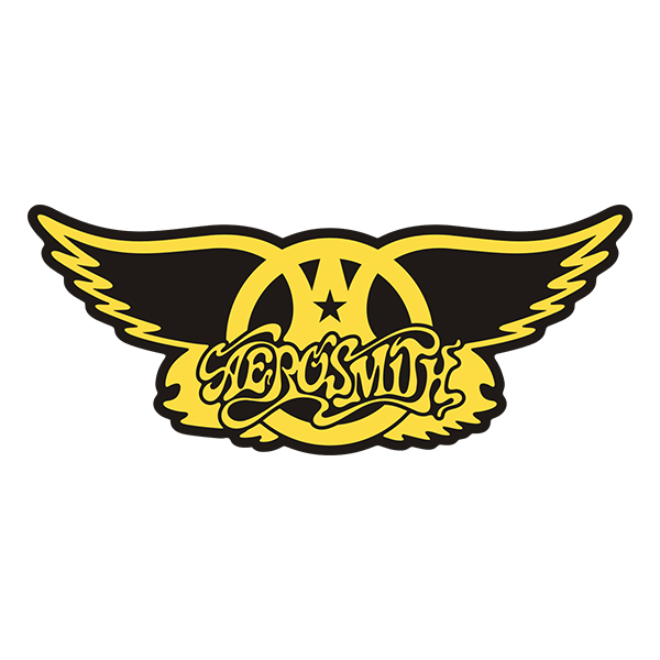 Aerosmith Wings Band Rock n' Roll Vinyl Sticker Decal - Click image to close