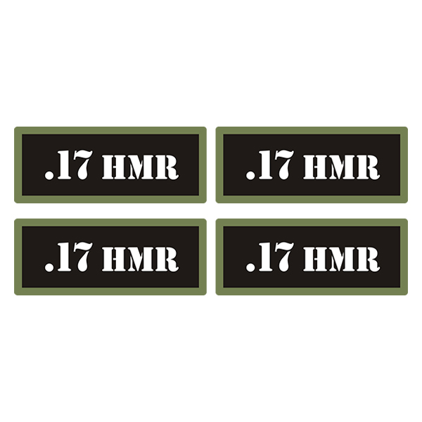 .17 HMR Ammo Can Label Sticker 4PK Gun Ammunition Box Case Decal V3