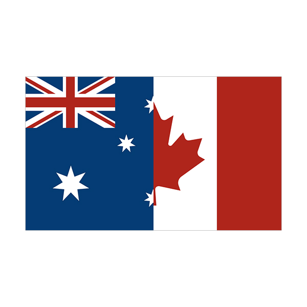 Australia canada flag australian canadian sticker decal click to zoom