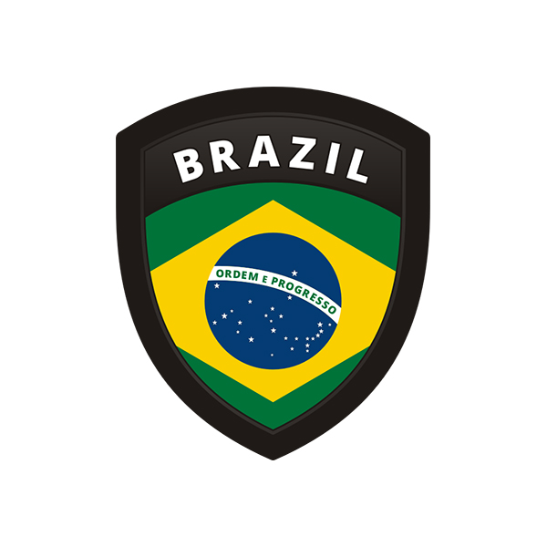 Brazil flag brazilian shield badge sticker decal