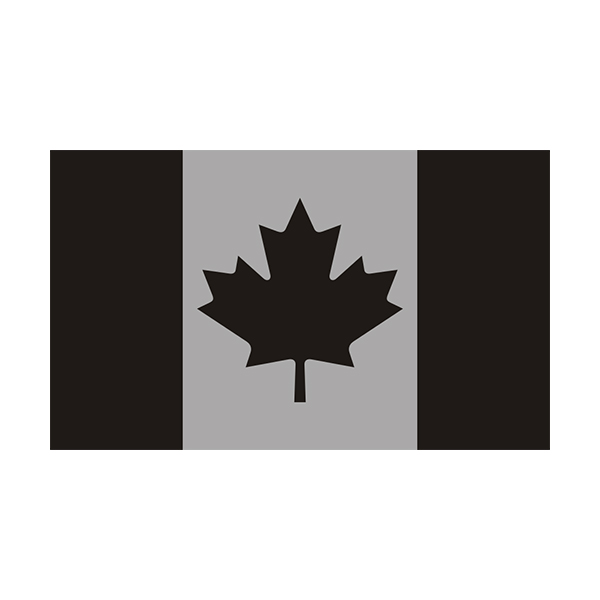 Canada Subdued Flag Decal Canadian Military Window Vinyl Sticker - Click image to close