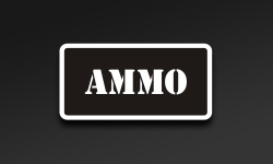 Black Square Ammo Can Stickers