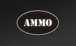 Black Oval Ammo Can Stickers