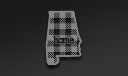 Map Shaped Buffalo Plaid Stickers
