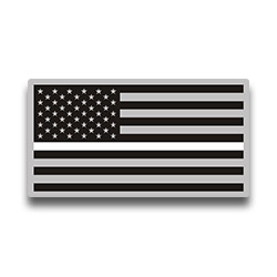 Thin White Line Flag Stickers
