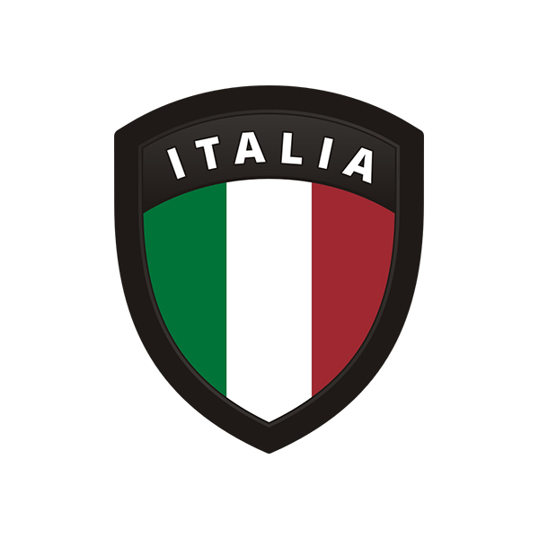 Italy country shield flag sticker vinyl decal