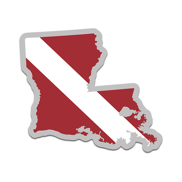 Two Pack Louisiana State Shaped Flag Sticker Self Adhesive Vinyl Decal LA
