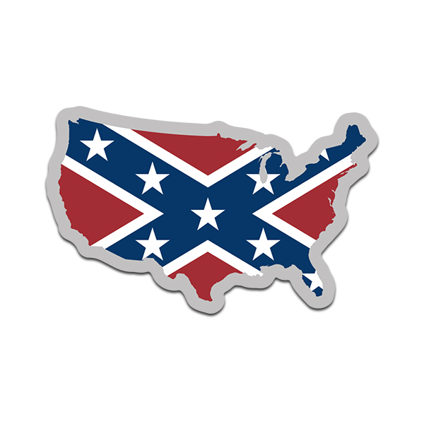 United States Map Shaped Rebel Confederate Flag Decal USA ... on calendar stickers, kentucky stickers, hawaii map stickers, usa patchwork map stickers, wyoming stickers, barbados map stickers, mississippi stickers, states visited maps stickers, north carolina stickers, united states state abbreviations,