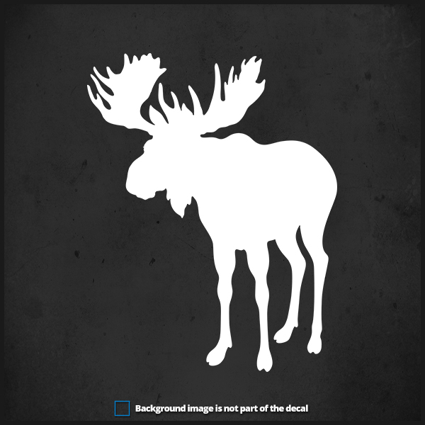 Moose Decal ST1 Big Game Hunting Truck Window Decals and Stickers