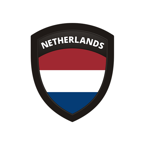 Netherlands flag holland dutch shield badge sticker decal