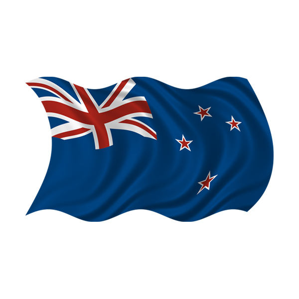 New zealand waving flag decal car truck window vinyl sticker rh