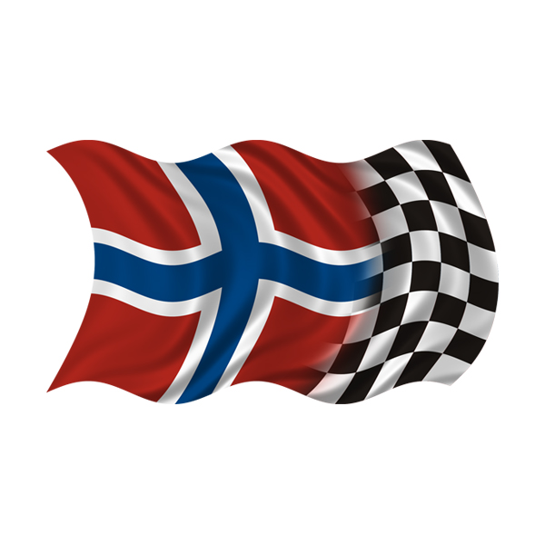 Norway racing checkered flag decal norwegian car vinyl sticker rh