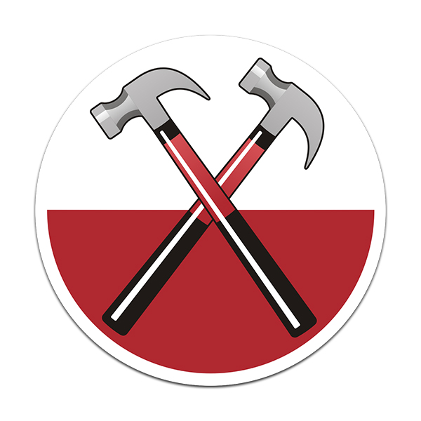 Pink Floyd Band The Wall Marching Hammers Rock n' Roll Sticker Decal V2 - Click image to close